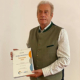 Gerhard Sittig, Vorsitzender der Leukämie-Selbsthilfegruppe Südthüringen erhielt für sein langjähriges Engagement den Selbsthilfepreis des Thüringer Verbandes der Ersatzkassen.